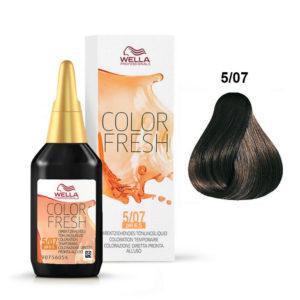 Wella Color Fresh 5/07 Light Natural Brunette Brown 75ml